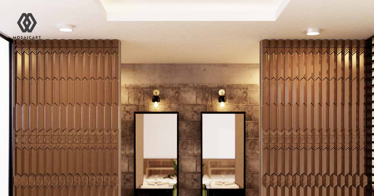 dekorasi-tahun-enam-puluhan-panel-dinding-3d-bertema-kayu-mosaicar